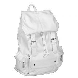 White PU Leather-like Material Backpack Reviews