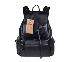 leather laptop backpack for women