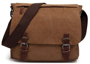 Kenox Vintage Canvas Laptop Messenger Bag