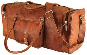 genuine leather duffel bag
