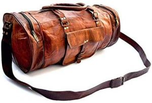 custom leather duffel bags