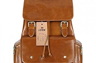 S-ZONE Women's Daily Genuine Leather Casual Backpack Bag Review
